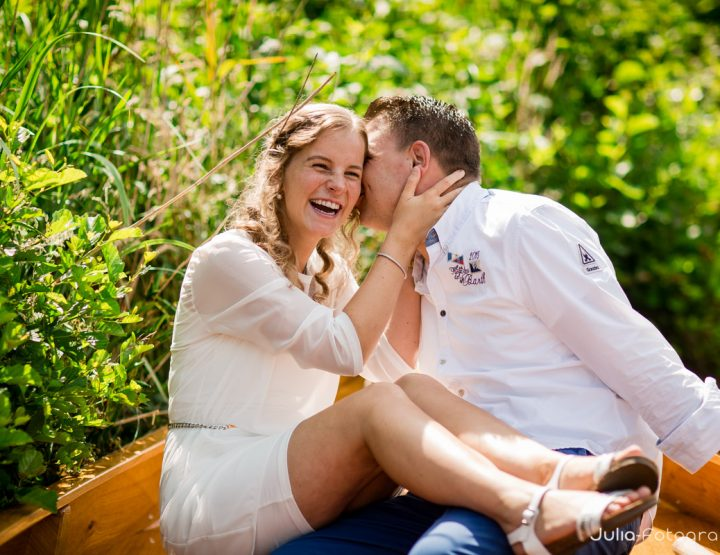 Fotoshoot/loveshoot varen door Giethoorn